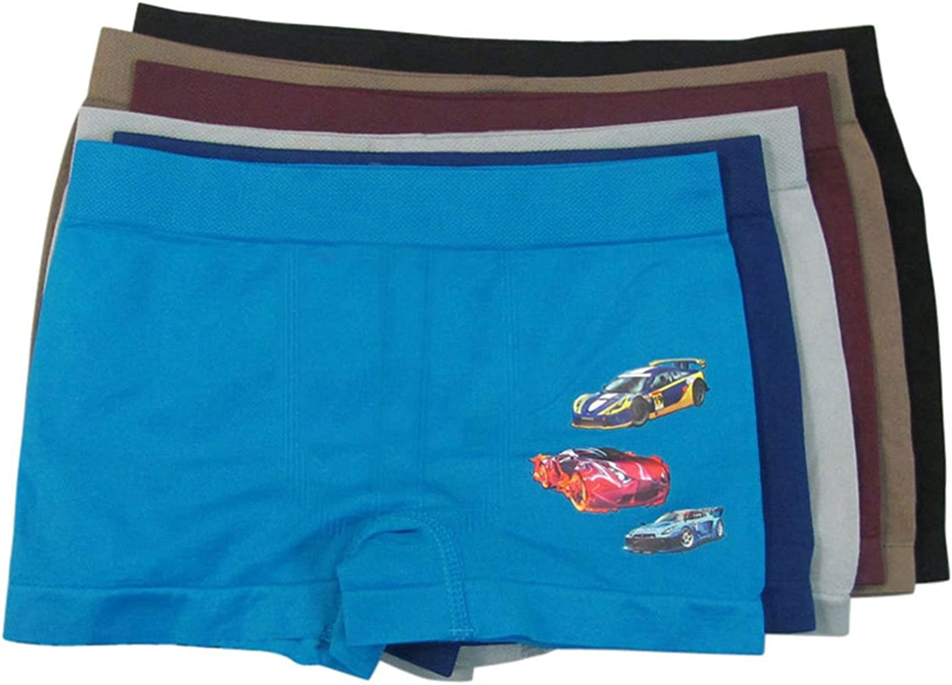 Boys Boxer Briefs Vehicle Short Underwear Seamless Boxers Pack of 4
