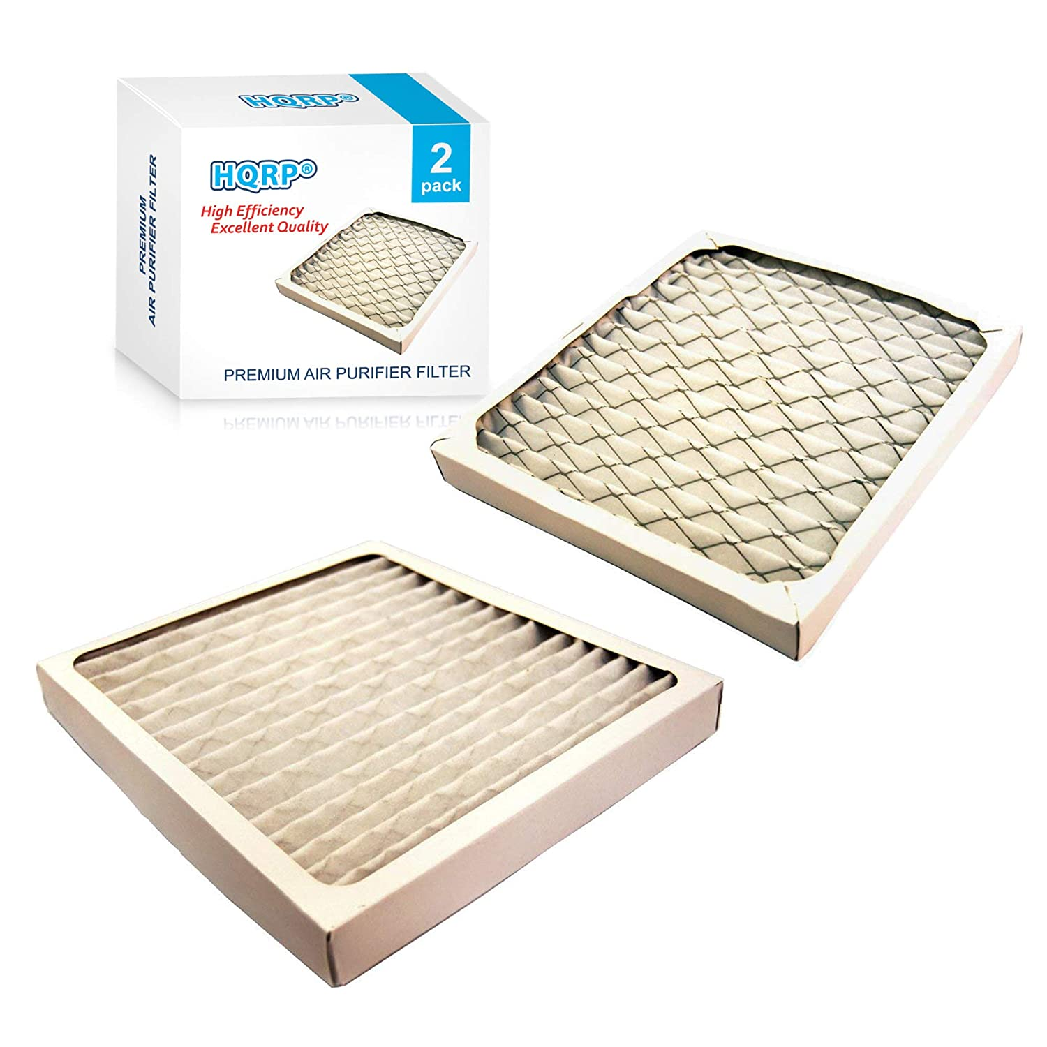 HQRP Filter Set 2-Pack for Hamilton Beach 04712 True Air Allergen Reducing Filter Replacement Plus Coaster