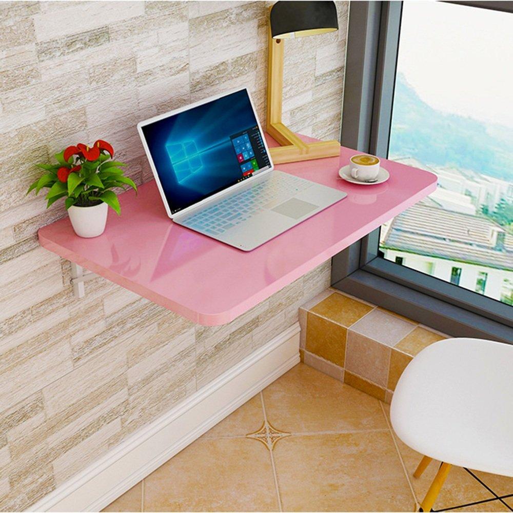 マチョン コンピュータデスク 折りたたみテーブルウォールテーブルダイニングテーブル (色 : Pink, サイズ さいず : 60cm*40cm) B07F5ZY9CL 60cm*40cm|Pink Pink 60cm*40cm