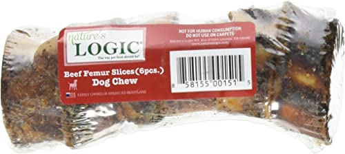 Nature S Logic Sliced Beef Femur Treat, 6 Pieces, 1 Pack