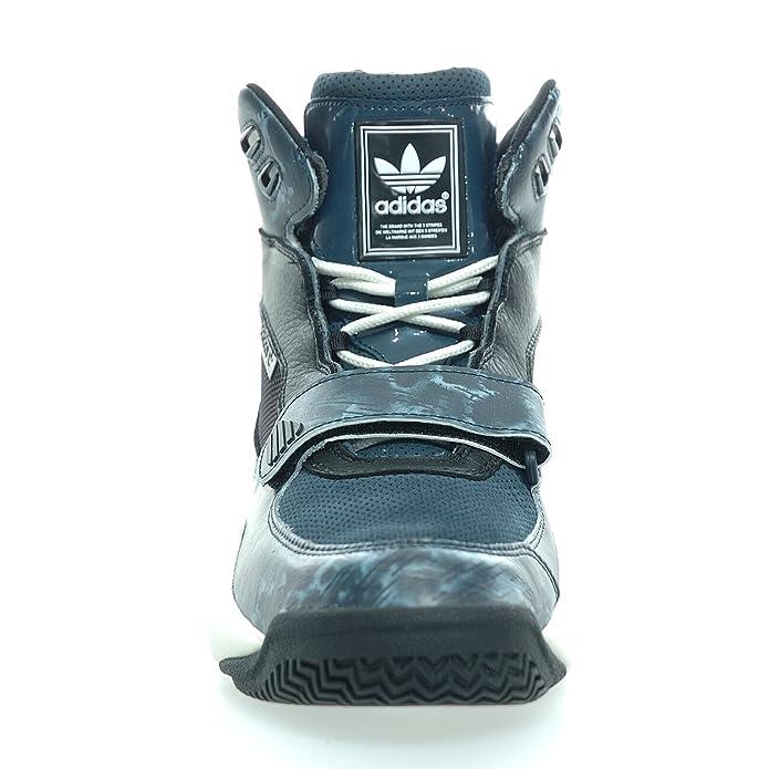 new styles 0bcd6 6de34 Adidas - FYW REIGN - Basketballschuh - Mid Top Sneaker - Schwarz  Blau   Weiß Amazon.de Schuhe  Handtaschen
