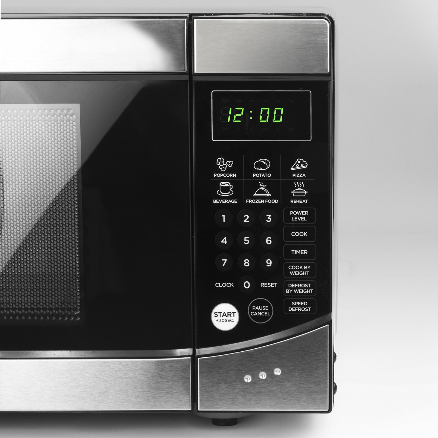 Westinghouse, WM009, Countertop Microwave Oven, 900 Watt, 0.9 Cubic Feet, Stainless Steel Front, Black Cabinet, Small by Westinghouse (Image #3)