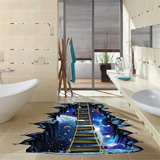 Pegatinas Decorativas Pared 3D Serie Star Pegatinas de Pared de Piso Calcomanías Murales Extraíbles Vinilo Art Decoración de habitación decoración hogar decoración baño escaleras: Amazon.es: Hogar