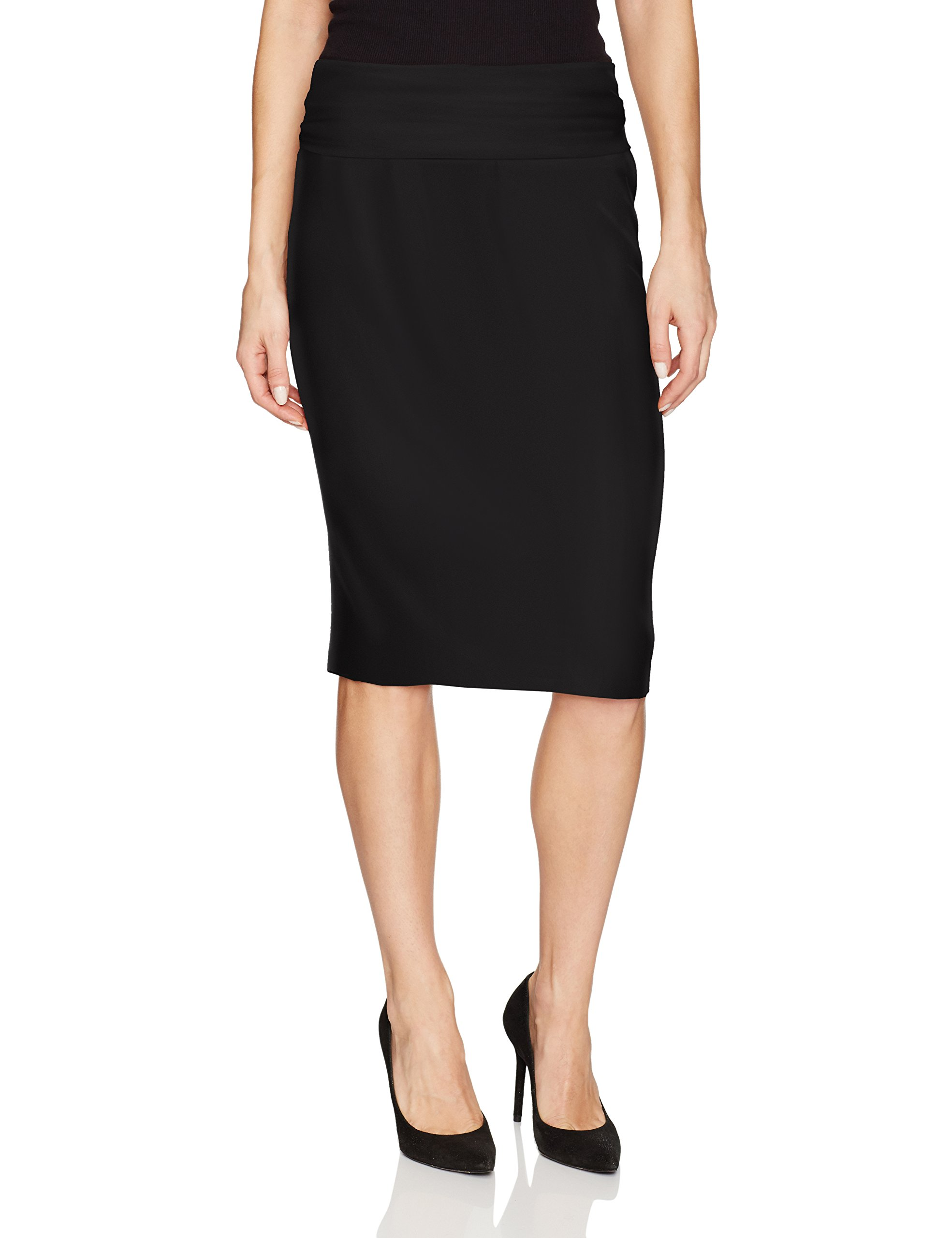 Norma Kamali Women's Straight Skirt, Black, M