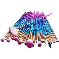 Apartner 20pcs Makeup Brushes Set Professional Face Brush for Foundation Concealer Blush Eye Shadow Eyebrow Eyeliner Beauty Makeup Kits - Blue Gradient