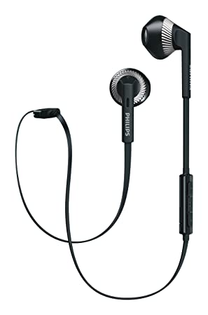69de17b9b5a Philips SHB5250BK Wireless Bluetooth Earphones with Microphone, Volume  Control, Light, Rich Bass,