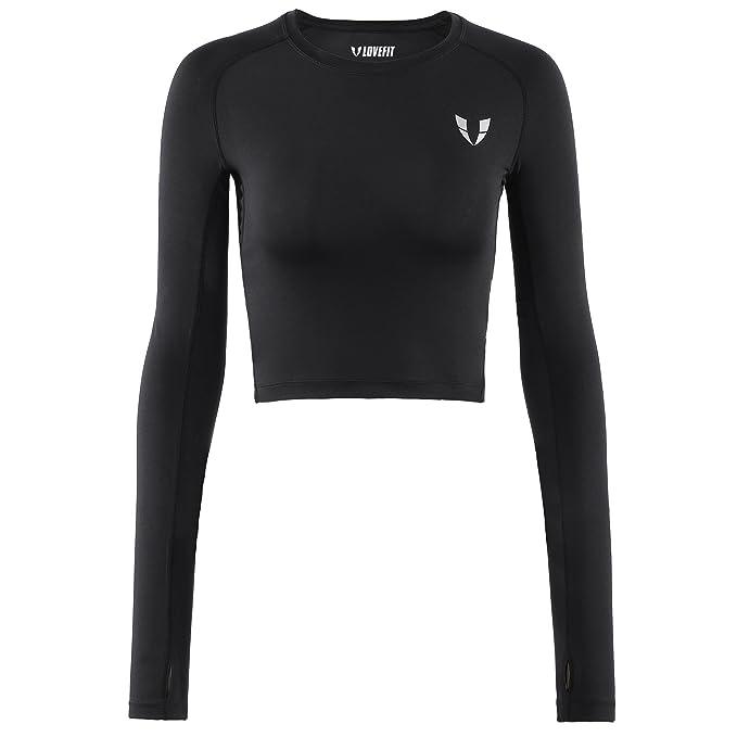 Amazon.com: V LOVEFIT - Camisas deportivas de manga larga ...