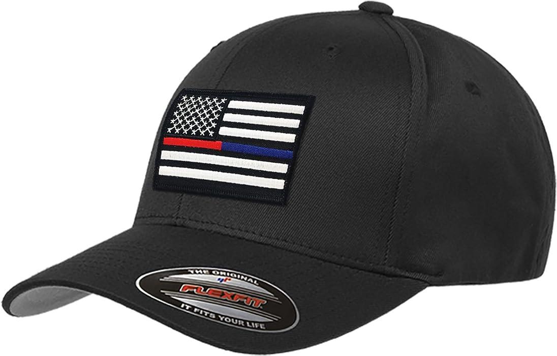 Flexfit Dual American Flag Hat (Small Medium) at Amazon Men s ... 5b06c992e60