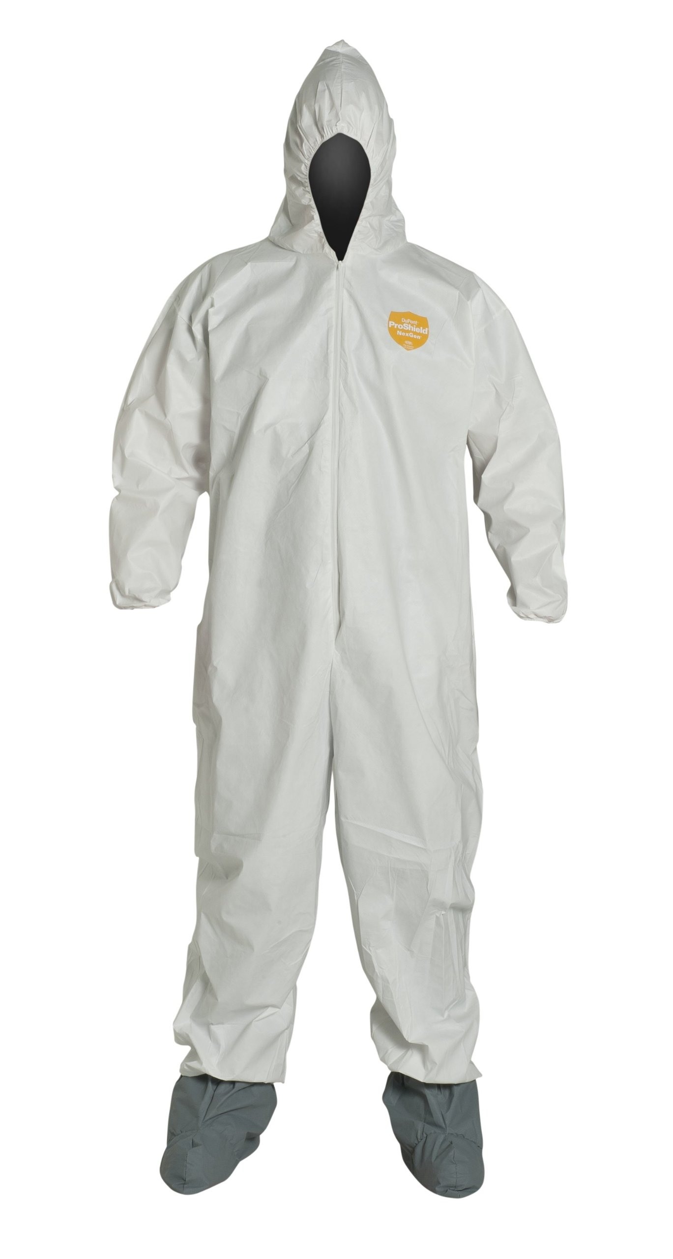 DuPont ProShield 60 NG122S Disposable Protective Coverall with Elastic Cuff, Hood and Boots, White, 4X-Large (Pack of 25)