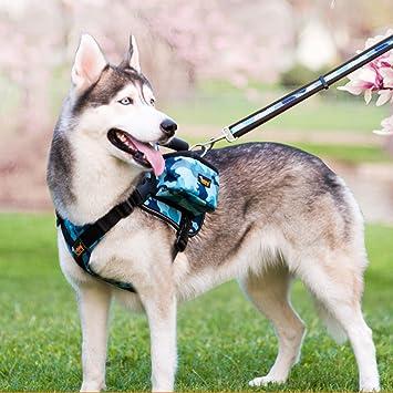 Amazon.com: Paw Essentials Adjustable Saddle Bag Dog Backpack ...