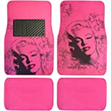 Pink Marilyn Monroe Print Design Carpet Car SUV Truck Floor Mats 4 PCS