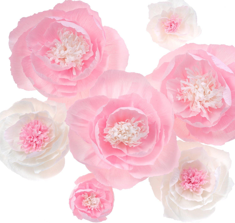 Große Krepppapierblumen Handgefertigte Blumen Für Schaufenster Kinderzimmer