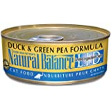 Dick Van Patten's Natural Balance Limited Ingredients Duck and Green Pea Canned Cat Food (Case of 24), 5.5 oz.