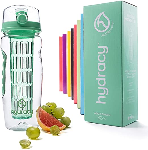 hydracy water bottle with infuser