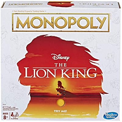 Monopoly Game Disney The Lion King Edition Family Board Game: Toys & Games