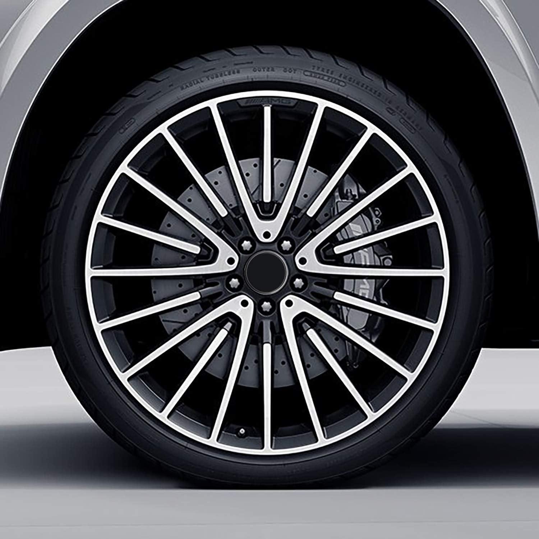 B66470200 Negro CM 0 SkinoEu 4 x 75mm Tapas de Rueda de Centro Centrales Llantas Aluminio Compatibles con Tapacubos Mercedes Benz B66470207