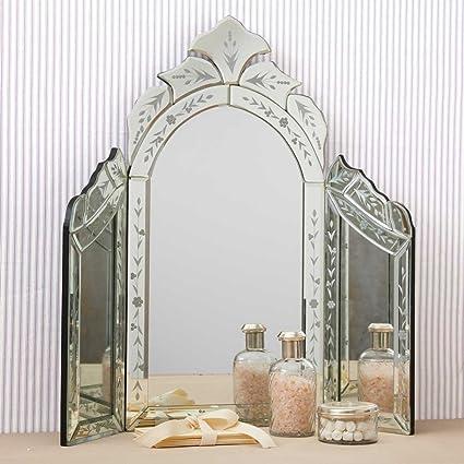 two\' S Company specchio da tavolo stile veneziano: Amazon.it ...