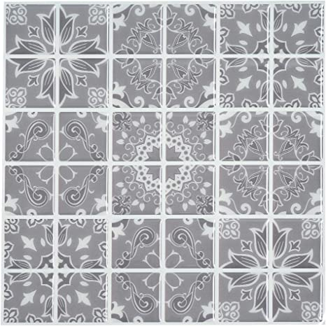 Clever Tiles 10 Pack Stick On Self Adhesive Mosaic Tiles bathroom kitchen decor