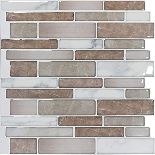 Art3d 10-Sheet Premium Stick On Kitchen Backsplash Tiles, 12\