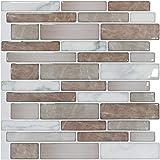 "Art3d 10-Sheet Premium Stick On Kitchen Backsplash Tiles, 12""x12"" Peel and Stick Self Adhesive Bathroom 3D Wall Tiles…"