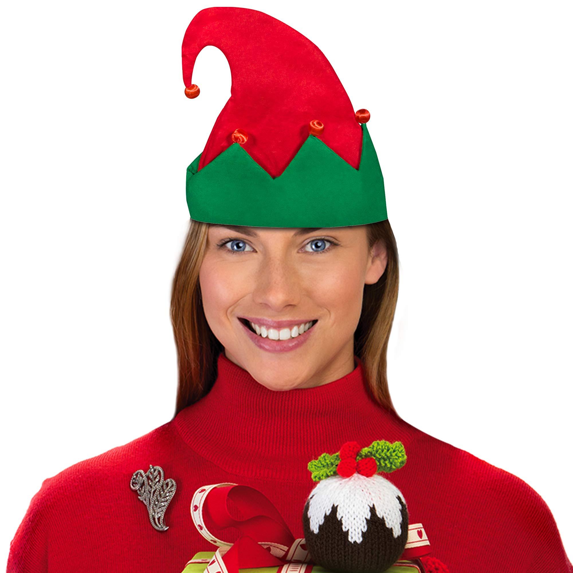 LED Light Up Festive Christmas Santa Elf Hat - Family 12 Pack by Windy City Novelties (Image #7)