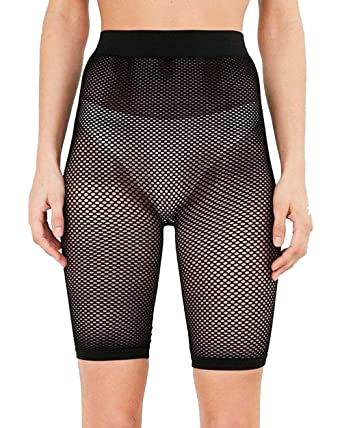 a79c5e23a562a New Womens Fishnet Mesh See Through Slim Fit 3/4 Leggings Cycling Short Hot  Pant