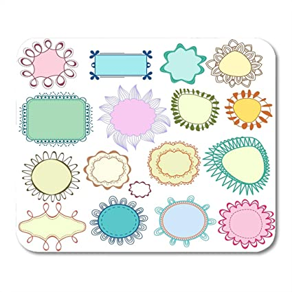 Amazon.com : Boszina Mouse Pads Drawn Colorful Whimsical Floral ...