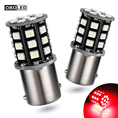 OBOLED 1157 LED Brake Bulbs 33SMD 2835 Super Bright BAY15D 7528 2357 2057 Use for Car Brake Light Daytime Running Light Parking Tail Lights Red: Automotive [5Bkhe0805678]