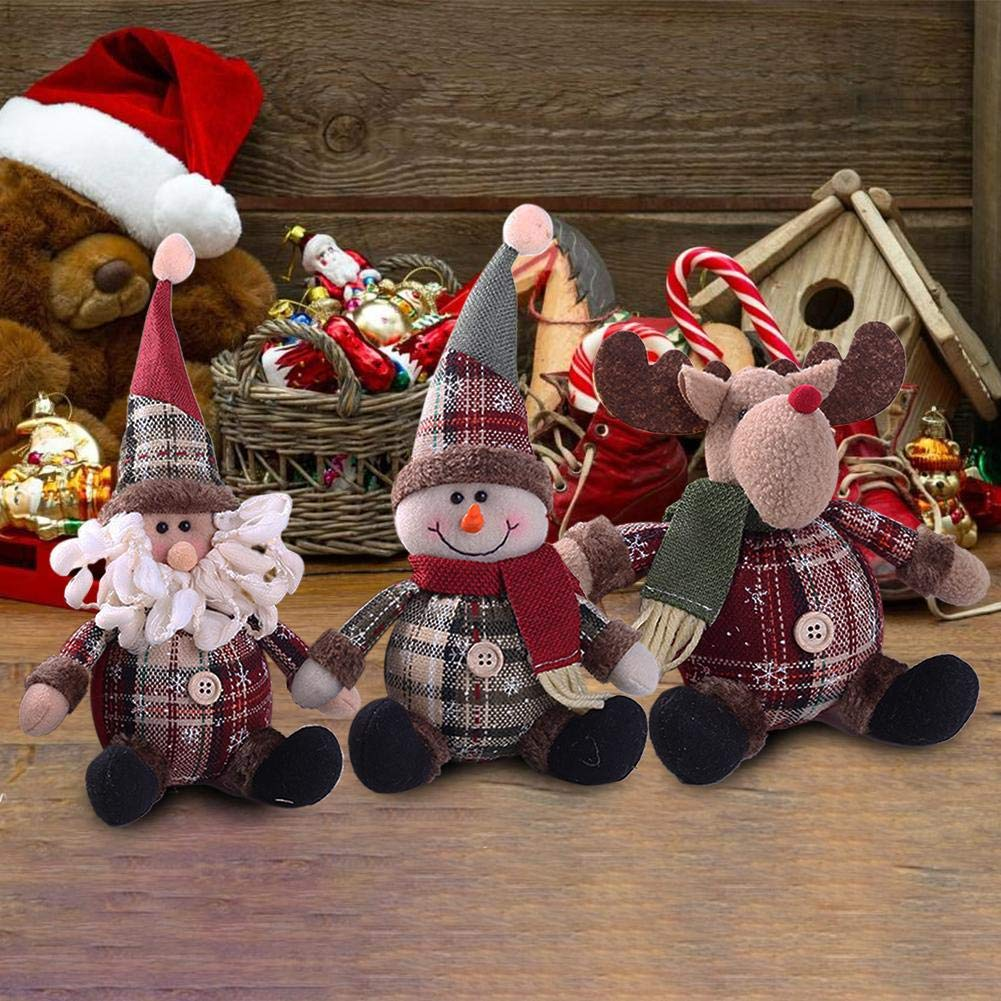PER Lovely Christmas Cartoon Stuffed Doll Xmas Room Decoration Home Decors Ornaments-Reindeer by Per (Image #7)