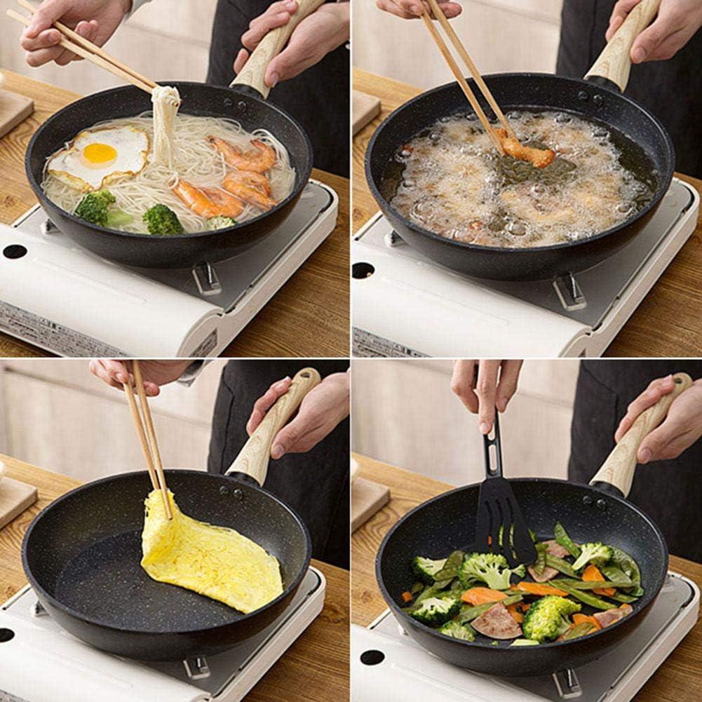 LEEaccessory Maifan Stone Non-Stick Frying Pan Saucepan with Aluminum Honeycomb Bottom Lightweight Feel Good Heat Transfer 16cmx20cmx24cm Special