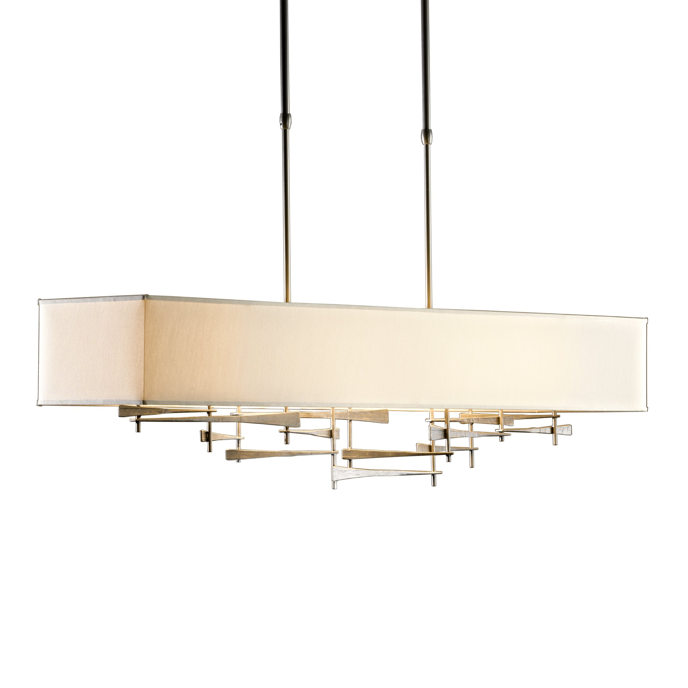 Hubbardton Forge 137670-1050 Cavaletti Pendant, Burnished Steel/Doeskin Suede