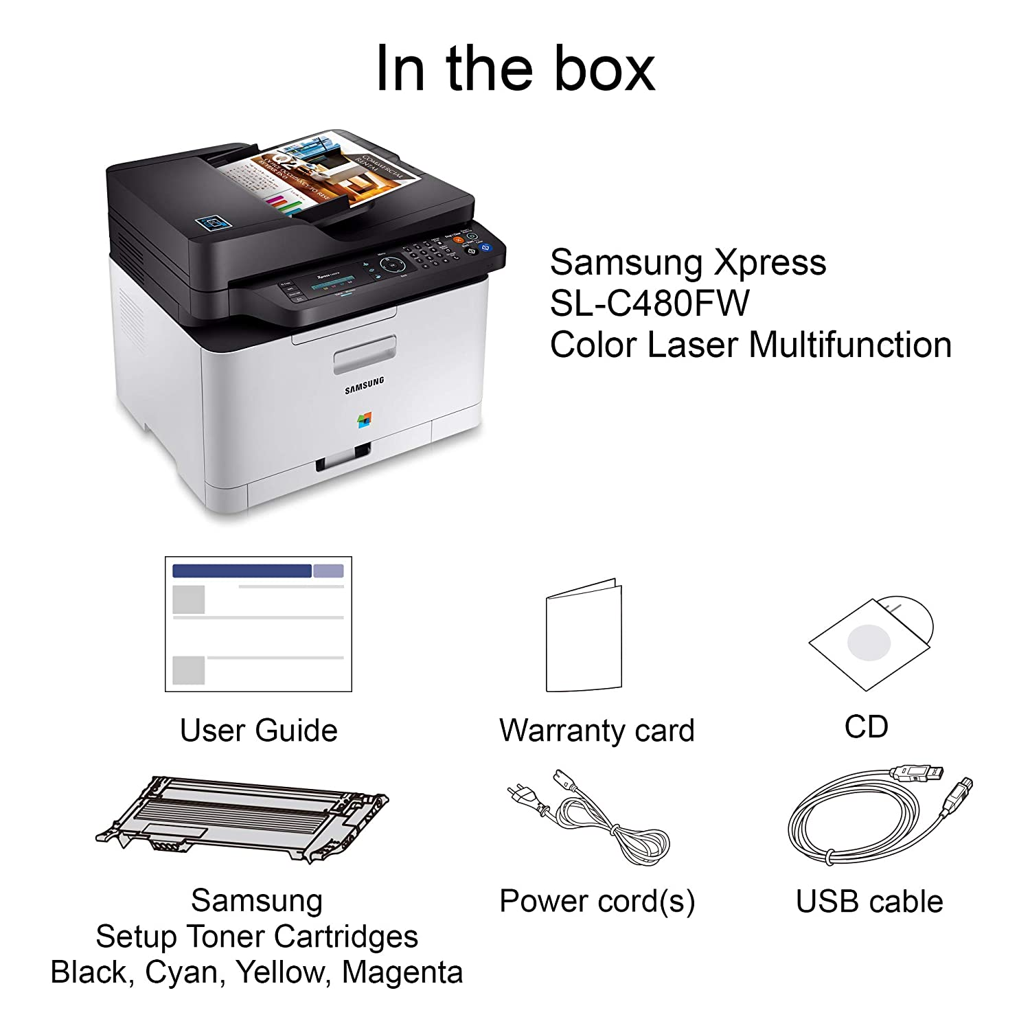HP Samsung Xpress SL-C480FW Color Laser Multifunction ...