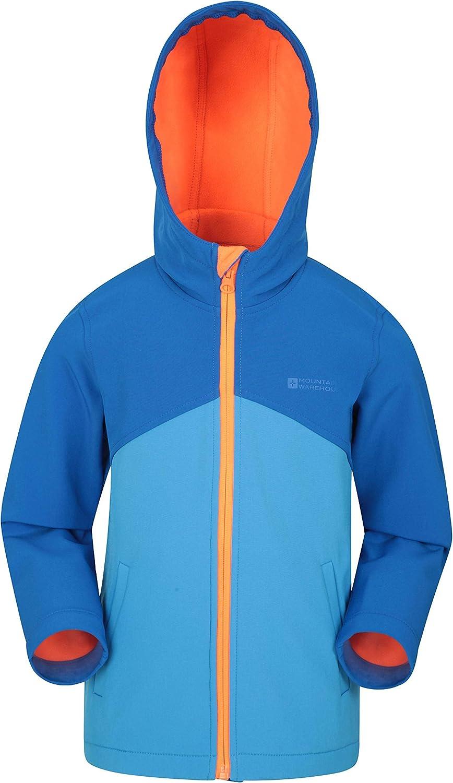 Mountain Warehouse Exodus Kids Shell Water Resistant Rain Jacket