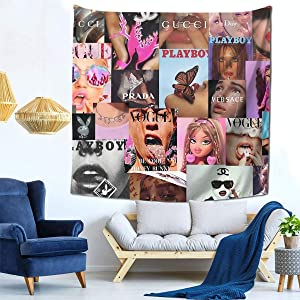 Popular Boujee Tapestry Wall Hanging Tapestries Wall Blanket Wall Art for Living Room Bedroom Home Decor 59x59 inch