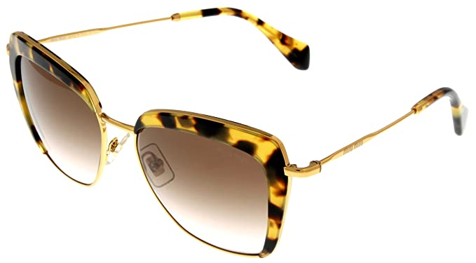 Amazon.com: Miu Miu – Gafas de sol mujer Light Havana Gold ...