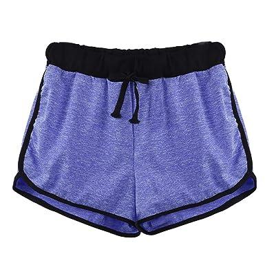 7c9167f673e5b SHOBDW Moda para Mujer a Rayas Cintura Media Longitud de la Rodilla Suelta  Pantalones Cortos con