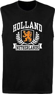 T-Shirtshock Canottiera Uomo Nera DEC0486 Holland Netherlands