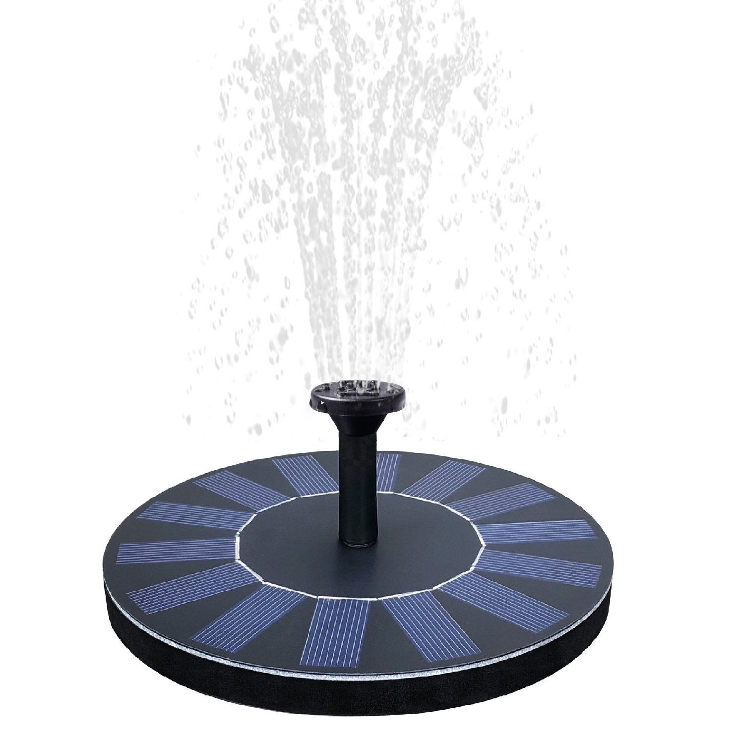 Solar Birdbath Fountain,1.4W Solar Panel Kit Water Pump Solar Powered Floating Fountain Kit Solar Water Fountain for Bird Bath Pond, Pool and Garden Decoration