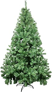 7ft Christmas Tree - Xmas Tree - Artificial Christmas Pine Trees - 1000 Branch Tips for Lush Looking - 3 Separable Sections - Tree Stand - Holiday Decorations - Christmas Decor