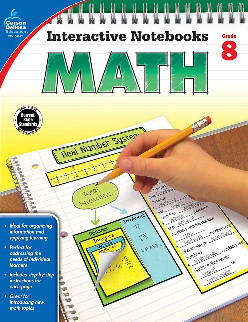 Workbooks 9th grade summer workbooks : Amazon.com: Math, Grade 8 (Interactive Notebooks) (0044222251192 ...