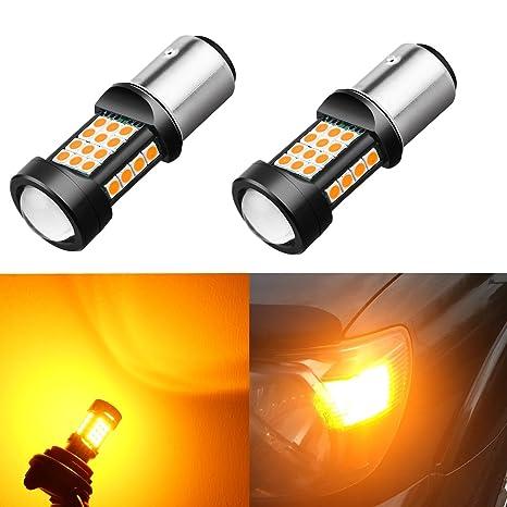 12v T25 3157 Led Bulb 3030 21 Smd Chipsets Led Bulbs 1000lm White For Car Turn Signal Tail Brake Light Backup Reverse Light Car Lights