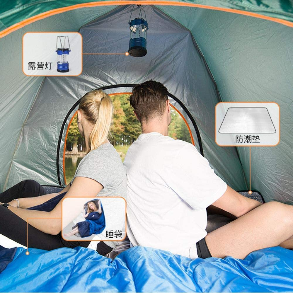 LONGGG Tent Outdoor Automatische Zonnecrème Anti-Ultraviolet 3-4 Persoon Dubbele Picknick Lente Tour Strand Speciale verkoop: Army Green 1720