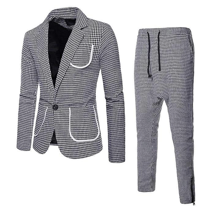 Traje Suit Hombre 2 Piezas Chaqueta Chaleco PantalóN Traje ...