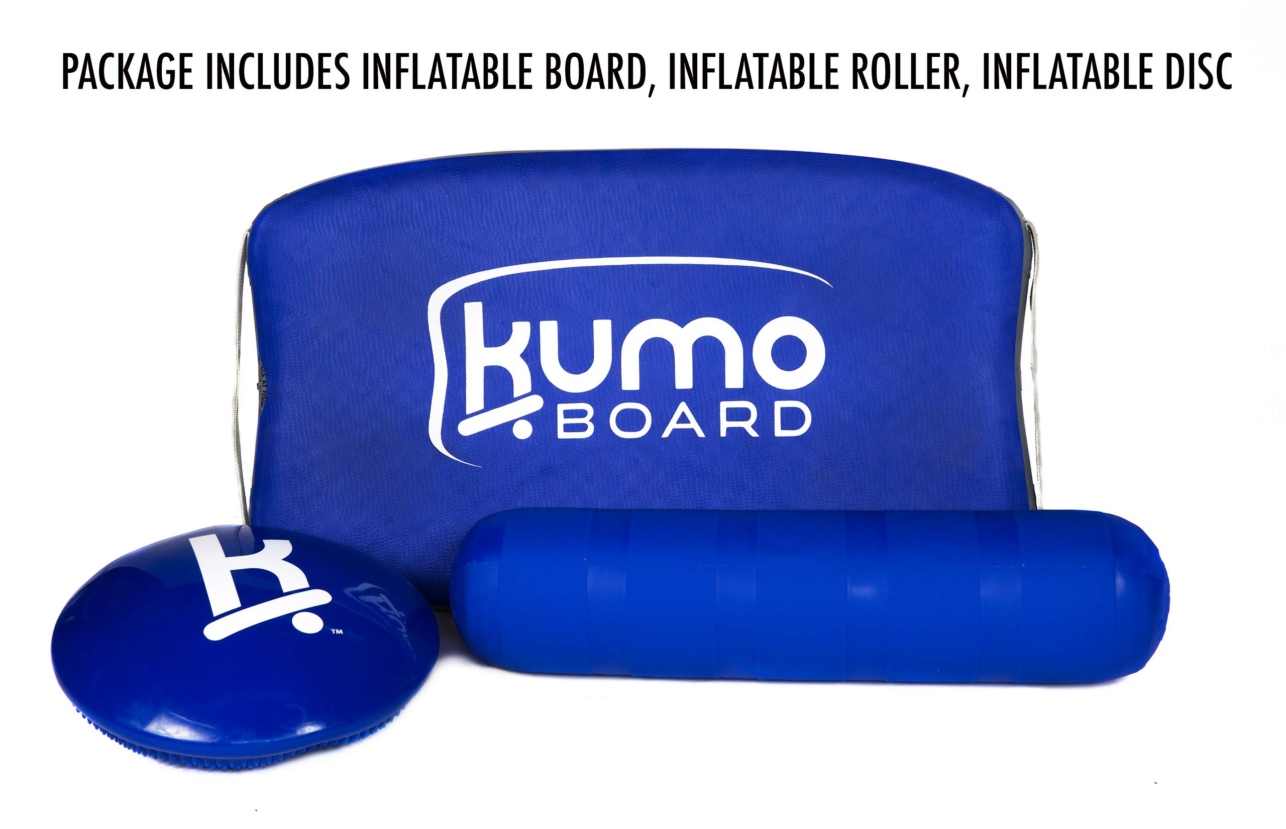KUMO Inflatable Balance Board for Surf Training, Exercise, Physical Therapy, Standing Desk & Kids - Balancing Rocker Boards with Roller - Soft Inflatable Surfing Trainer Improves Balance & Strength by Kumo Board (Image #4)