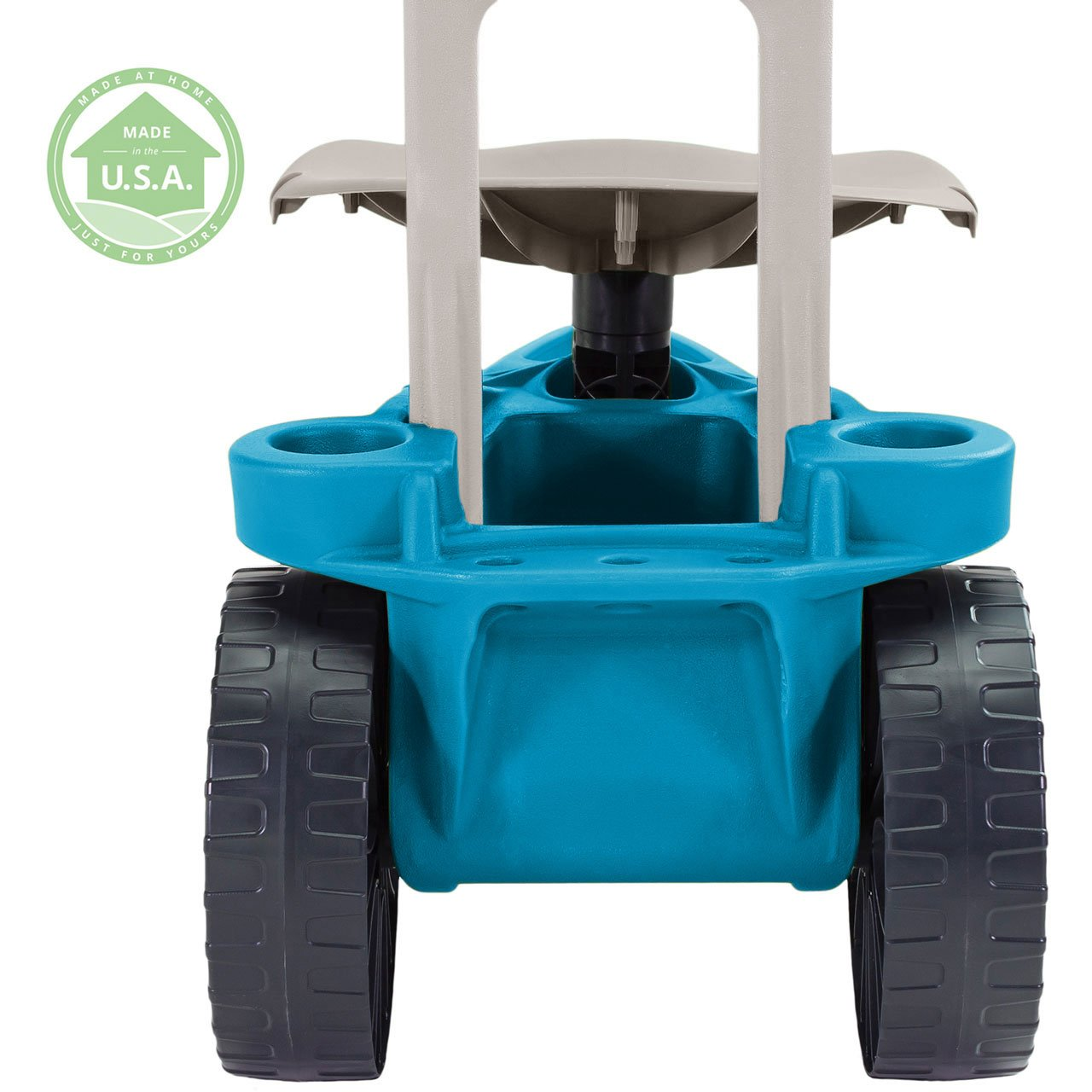 Easy Up Deluxe XTV Rolling Garden Seat and Scoot - Adjustable Swivel Seat, Heavy Duty Wheels, and Ergonomic Design To Assist Standing, Sitting, and Bending Over Made in the USA (Deluxe XTV Teal) by Vertex (Image #7)