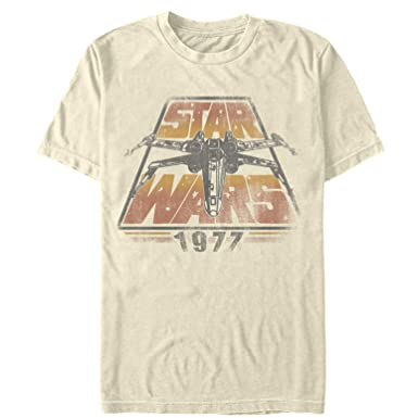 d26a8f035 Amazon.com: Star Wars Men's 1977 Time Warp T-Shirt: Clothing