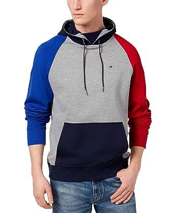 73550fa9d4fe4 Tommy Hilfiger Mens Ulysses Colorblock Casual Sweatshirt Multi XXL ...