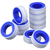 Mudder 10 Rolls 1/2 Inch Width 520 Inches Length PTFE Tape Industrial Sealants Tape for Gas Water Pipe Fittings Joint, White