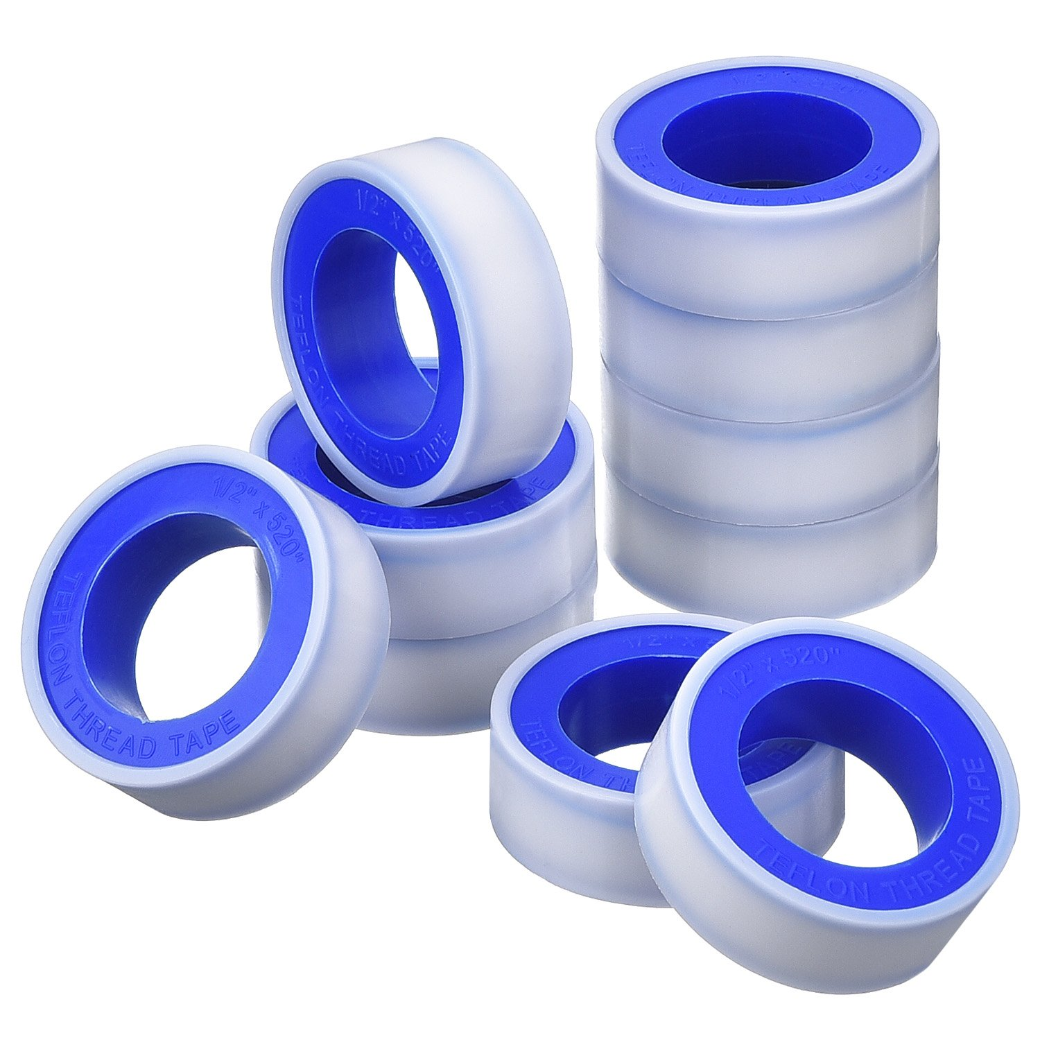10 Pack Thread Tape PTFE Thread Seal Tape Pipe Sealant Tape for Plumbers Plumbing, 1/ 2 Inch Mudder