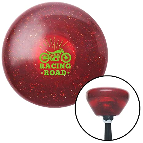 American Shifter 290790 Shift Knob Green Racing Road Red Retro Metal Flake with M16 x 1.5 Insert